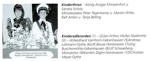 Kinderkönig 1984/85