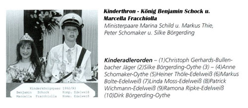 Kinderkönig 1992/93