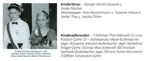 Kinderkönig 1993/94