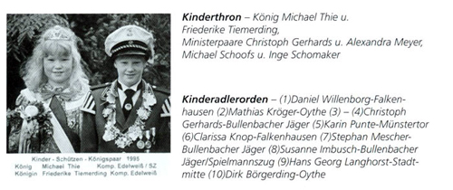 Kinderkönig 1995/96