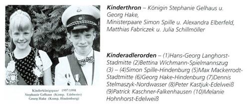 Kinderkönig 1997/98